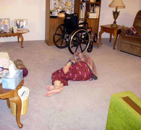 Grandpa sleeping on the floor